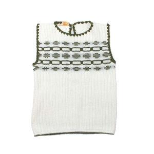 VTG 1970s Mod Scalloped Sleeveless Knit Blouse